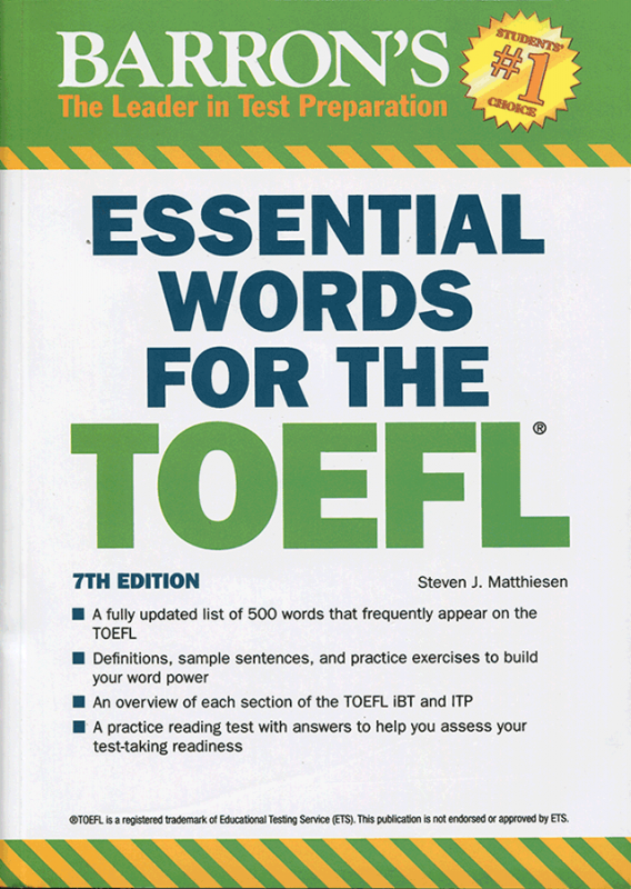 Essential Words for the TOEFL 7th