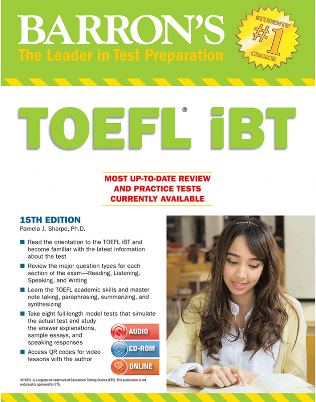 Barrons TOEFL iBT 15th+DVD