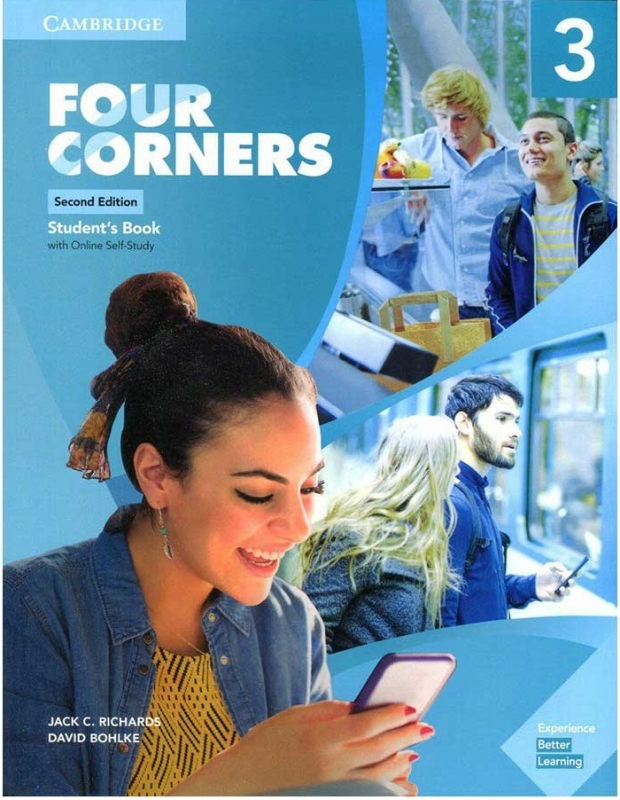 Four Corners 2nd 3 SB+WB+DVD کاغذ گلاسه