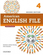 American English File 2nd 4 SB+WB+DVD کاغذ گلاسه