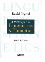 A Dictionary of Linguistics and Phonetics 5th Edition