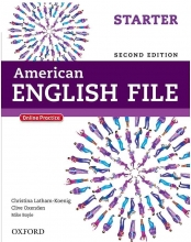 American English File 2nd Starter SB+WB+DVD کاغذ گلاسه