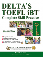 کتاب دلتا تافل Deltas Key to the TOEFL iBT 4th+CD