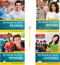 Collins Get Ready For IELTS Reading+Writing+Speaking Listening پک کامل
